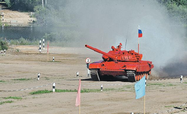 Российский Т-72 безупречно прошел всю дистанцию.