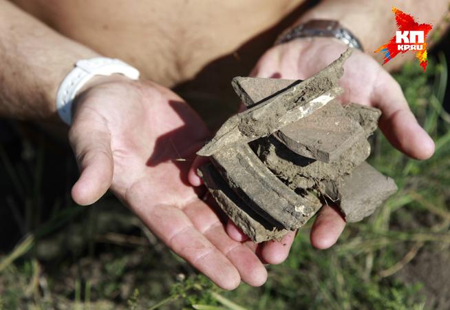 На месте нашли осколки древних амфор