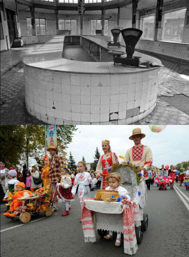 25 лет назад старт у всех республик был одинаковым, какнаверхнем снимке. А к финишу первой пришла Беларусь (фото внизу)...