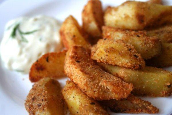 очень вкусный картофель с пряностями.