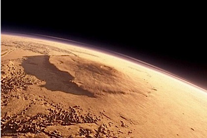 Вулкан Олимп на Марсе.