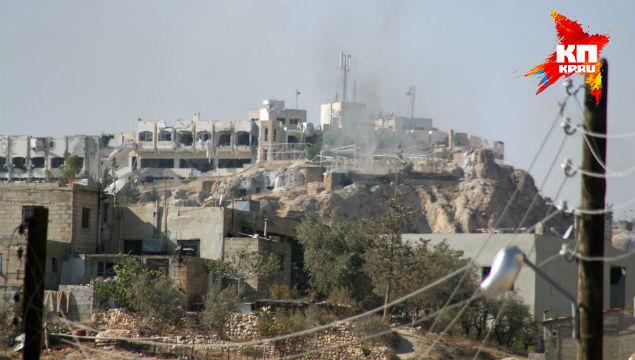 Отель «Сафир» над Маалюлей, в котором укрепились сотни боевиков.