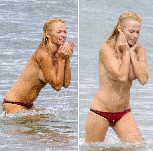 Памела андерсон на пляже все фото