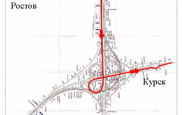 В направлении Ростов — Курск