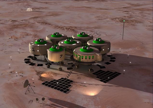 Сначала колония на Красной планете будет маленькой