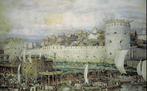 С именем Дмитрия Донского связан важный этап в развитии Кремля, и именно строительство белокаменных стен в 1367 году