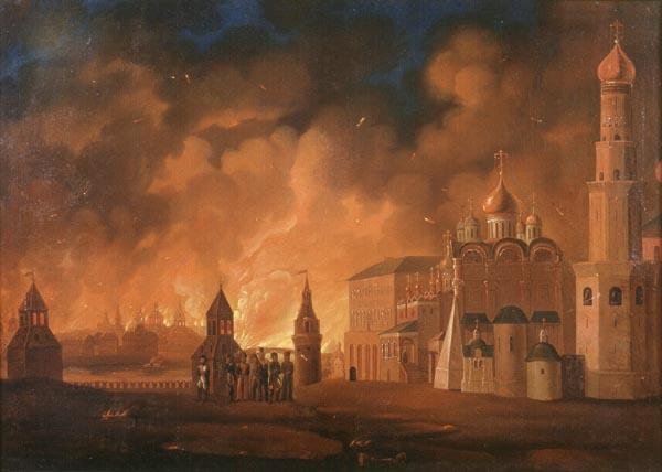 После пожара и пребывания в Москве Наполеона Кремль сильно пострадал