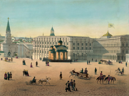 В середине 19 века по приказу Николая 1 на территории Кремля был возведен дворцовый комплекс в «русском стиле».