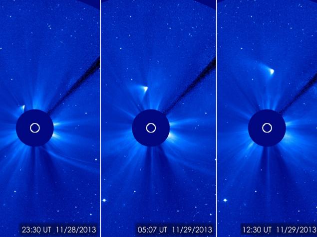 Комета все-таки обогнула Солнце. Снегурочка...