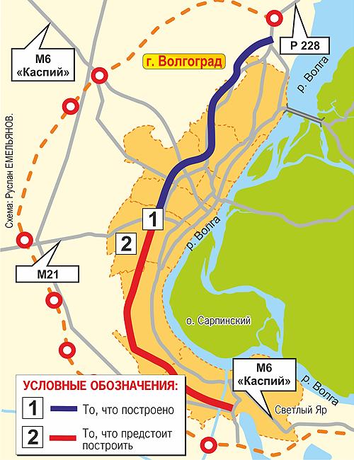 ТТХ южного участка магистрали