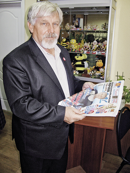 Владимир Жданов два десятка лет читает «Комсомолку» без очков. Хотя прежде носил +2.