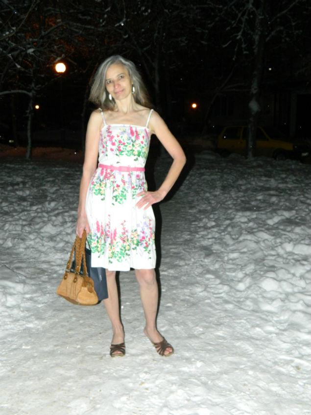 Тольяттинской Снегурочке ни мороз, ни солнце нипочем