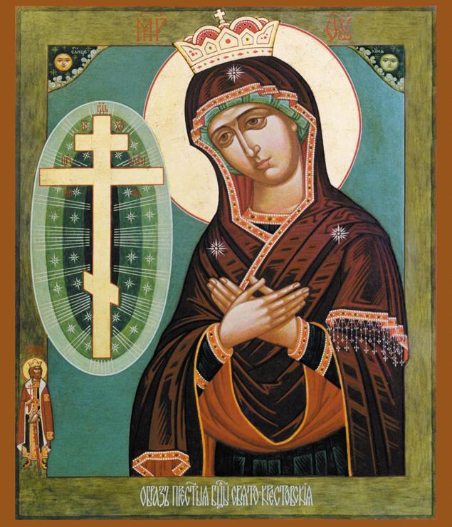 Свято-Крестовская икона Божией Матери написана после явления Богородицы в Буденновске.