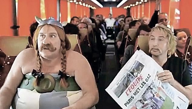 Казус в самолете Депардье обыграл в шутливом видеоролике.
