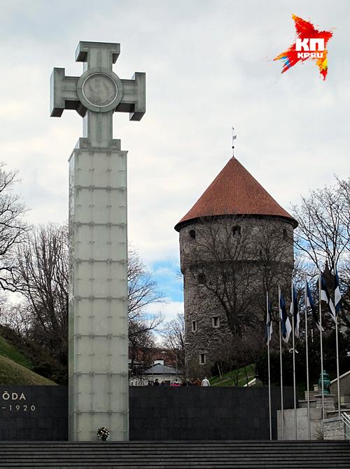 Тевтонский крест в центре таллина