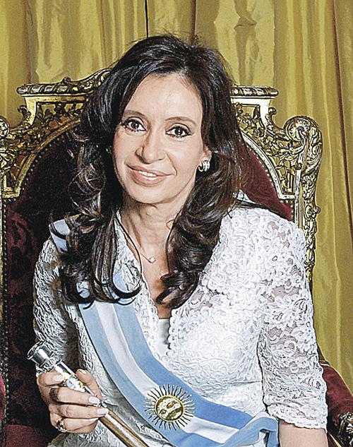 Президент Аргентины Кристина де Киршнер. Диагноз: рак щитовидной железы. Перенесла тяжелую операцию и вернулась к исполнению обязанностей.