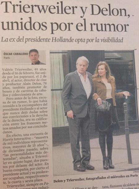 Первой новость об отношениях пары опубликовала еженедельная газета La Vanguardia.
