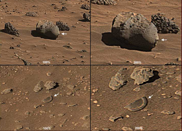 Голова марсианского майи и его разбитая тарелка