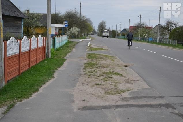 ДТП произошло на центральной улице в деревне Ревятичи