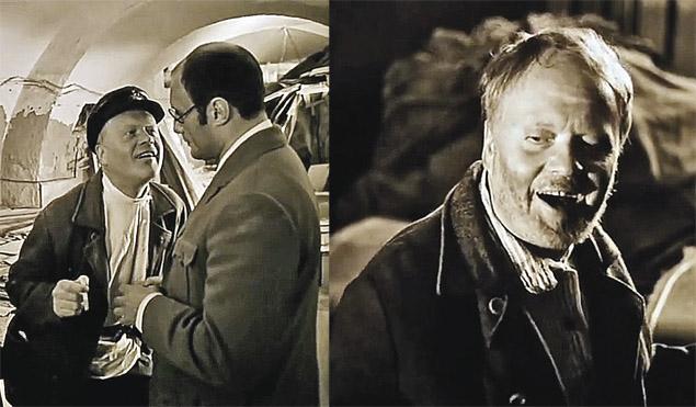 Ляпы. Сцена расстрела предателя в ЧК взята из кинопроб. Поэтому актер сначала  в одной рубашке (слева), а через минуту в другой, сначала без бороды, потом с бородой.