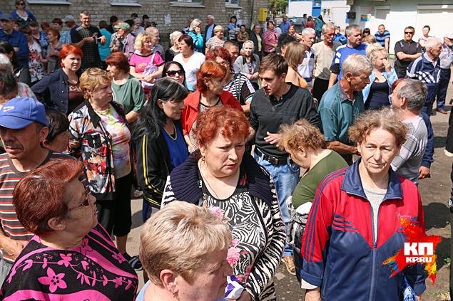 Стихийный митинг жителей Славянска не оправдал ожиданий хунты