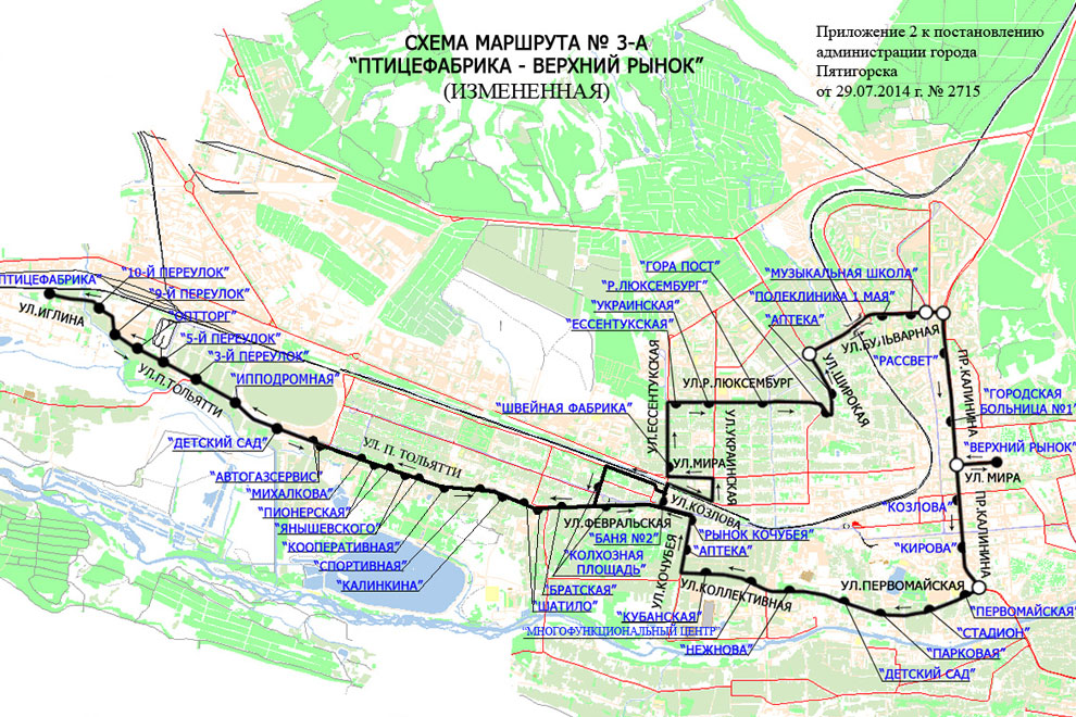 схемы движения маршруток