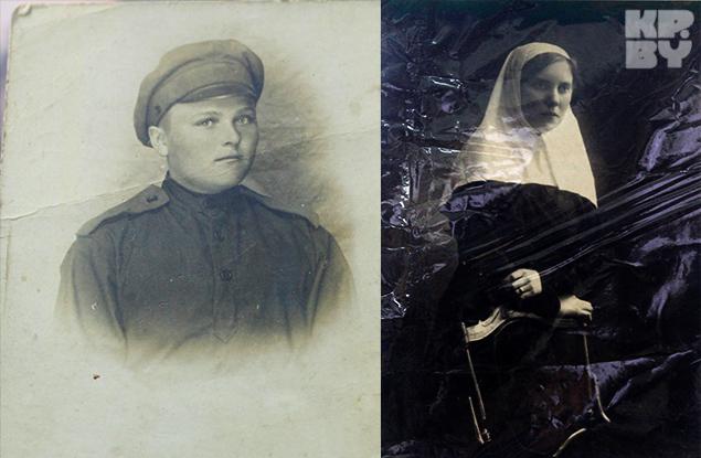 Женщина солдат и сестра милосердия