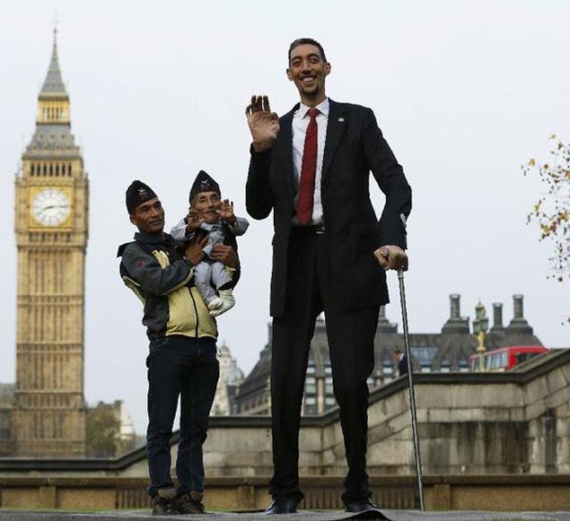 Высокий и самый низкий человек в мире