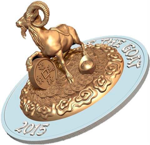 Символ года в серебре и золоте