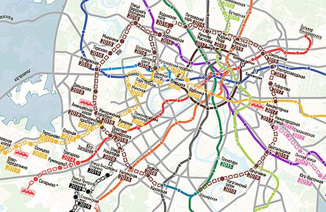 На карту метро в 2020 году