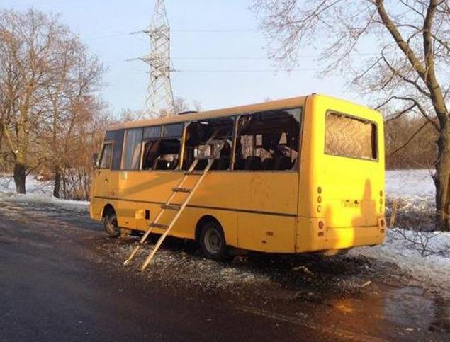 Левая сторона автобуса не