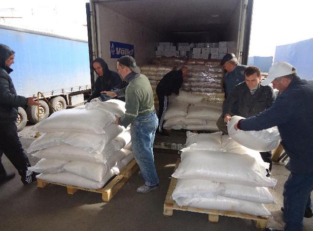 Донецк отчитался 500 тонн гуманитарной
