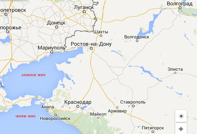 Google Карты. Азовское море