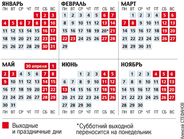 Календарь на 50 летием