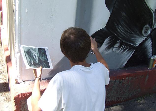 Витебские граффитисты подарили городу портрет Марка Шагала, фото-2