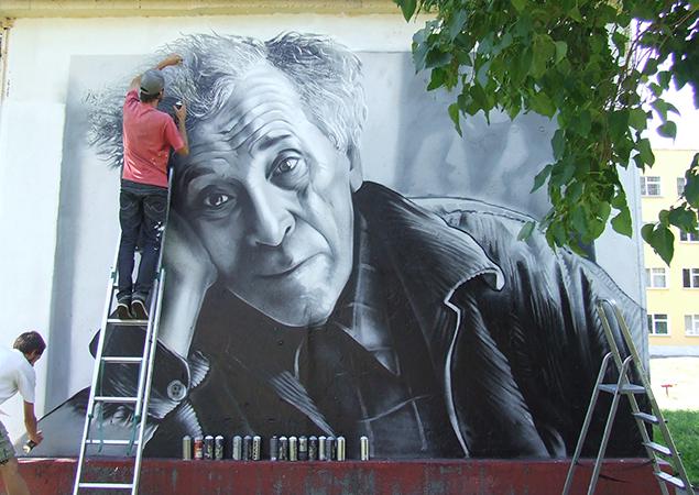 Витебские граффитисты подарили городу портрет Марка Шагала, фото-3
