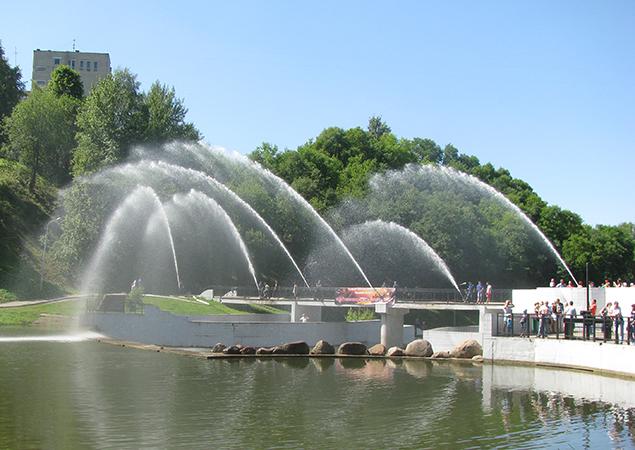 В Витебске в парке отдыха автомобиль влетел в реку, фото-1