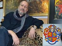 Волгоградский художник Владислав Коваль нарисовал герб Пугачевой и Галкину