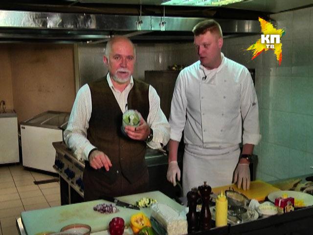 Отчаянный домохозяин: сибас, запеченный с креветками