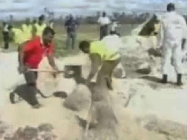 Как на пляжах Шри-Ланки проводились раскопки тел погибших летчиков