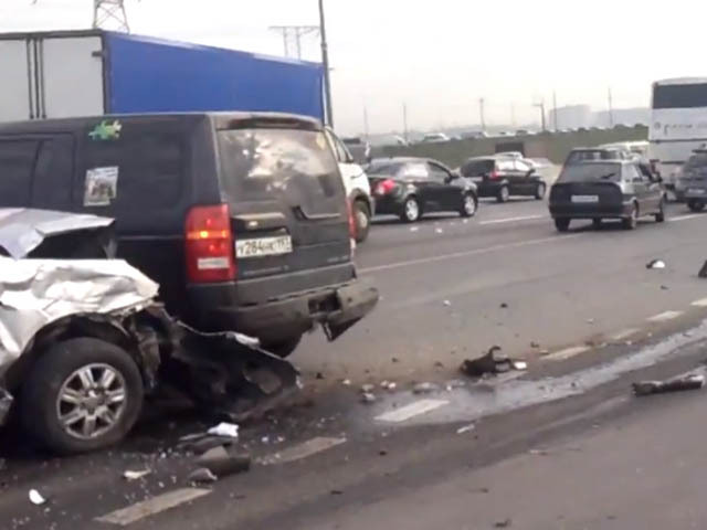 Страшная авария на МКАД: есть раненые