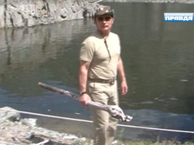 Владимир Путин поймал в Тыве 21-килограммовую щуку