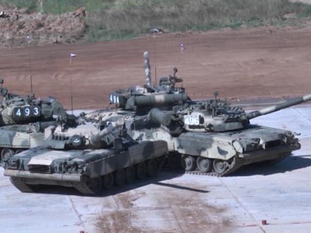 Танковый биатлон-2013. Российский экипаж одержал победу