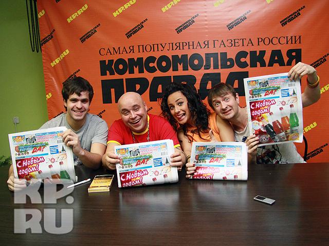 Доминик Джокер и участники хора Алтайского края в КП-Барнаул (декабрь 2013 год)