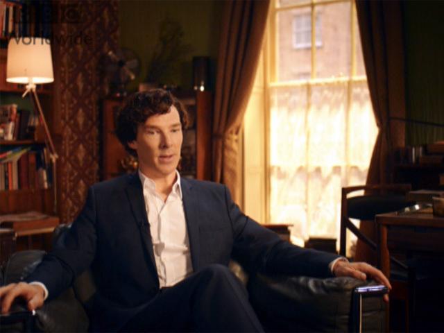 """Бенедикт Камбербэтч, исполнитель главной роли в сериале """"Шерлок"""": """"Три поколения с удовольствием смотрят сериал, и я - большой поклонник Шерлока"""""""