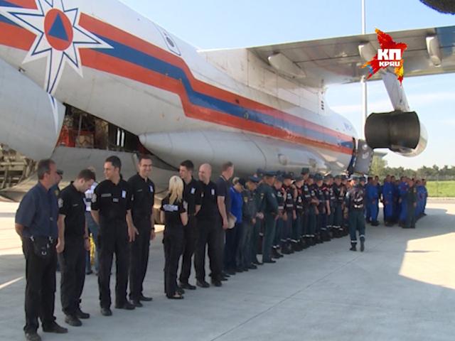 Сербы пожали руки российским спасателям