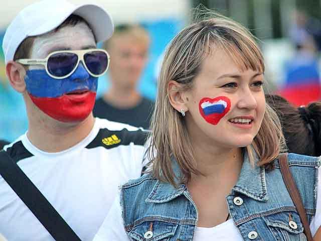 Самарцы отчаянно болели за нашу сборную в мачте Россия - Бельгия