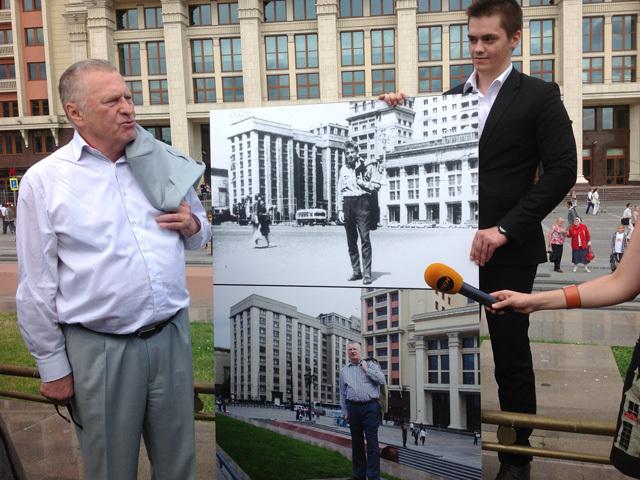 Лидер ЛДПР Владимир Жириновский отметил 50-летие своего приезда в Москву