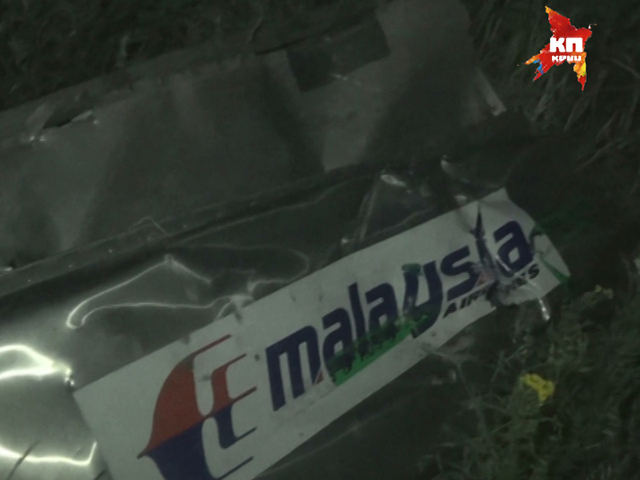 Ночная съемка места крушения малайзийского лайнера