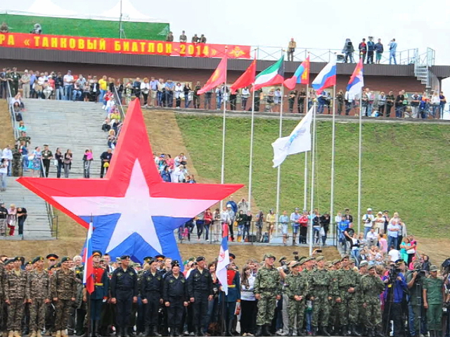 Российские воины стали чемпионами мира по танковому биатлону